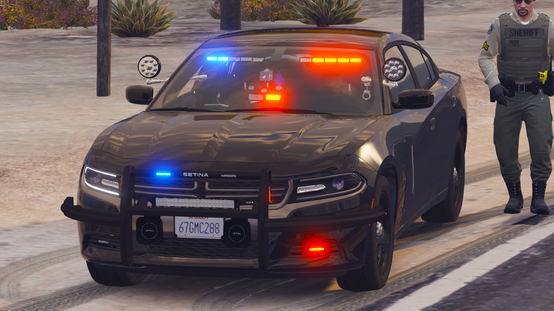 Fictional unmarked 2018 Dodge Charger