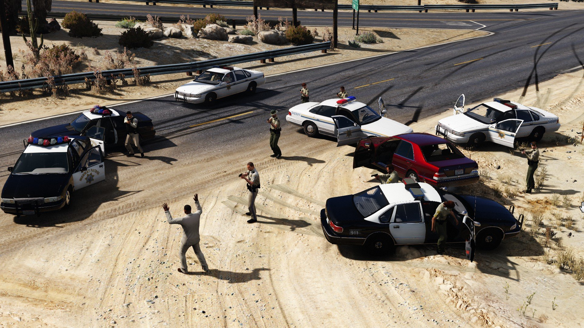 Rural Road chase ended lucky