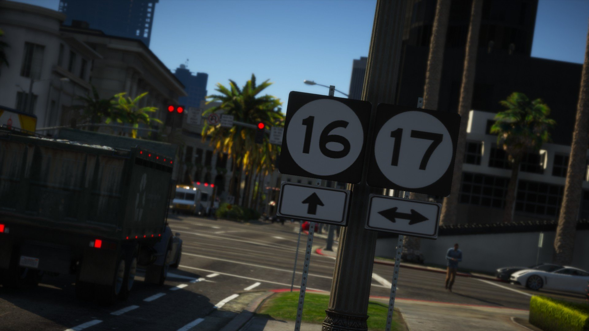 San Andreas Route Signage