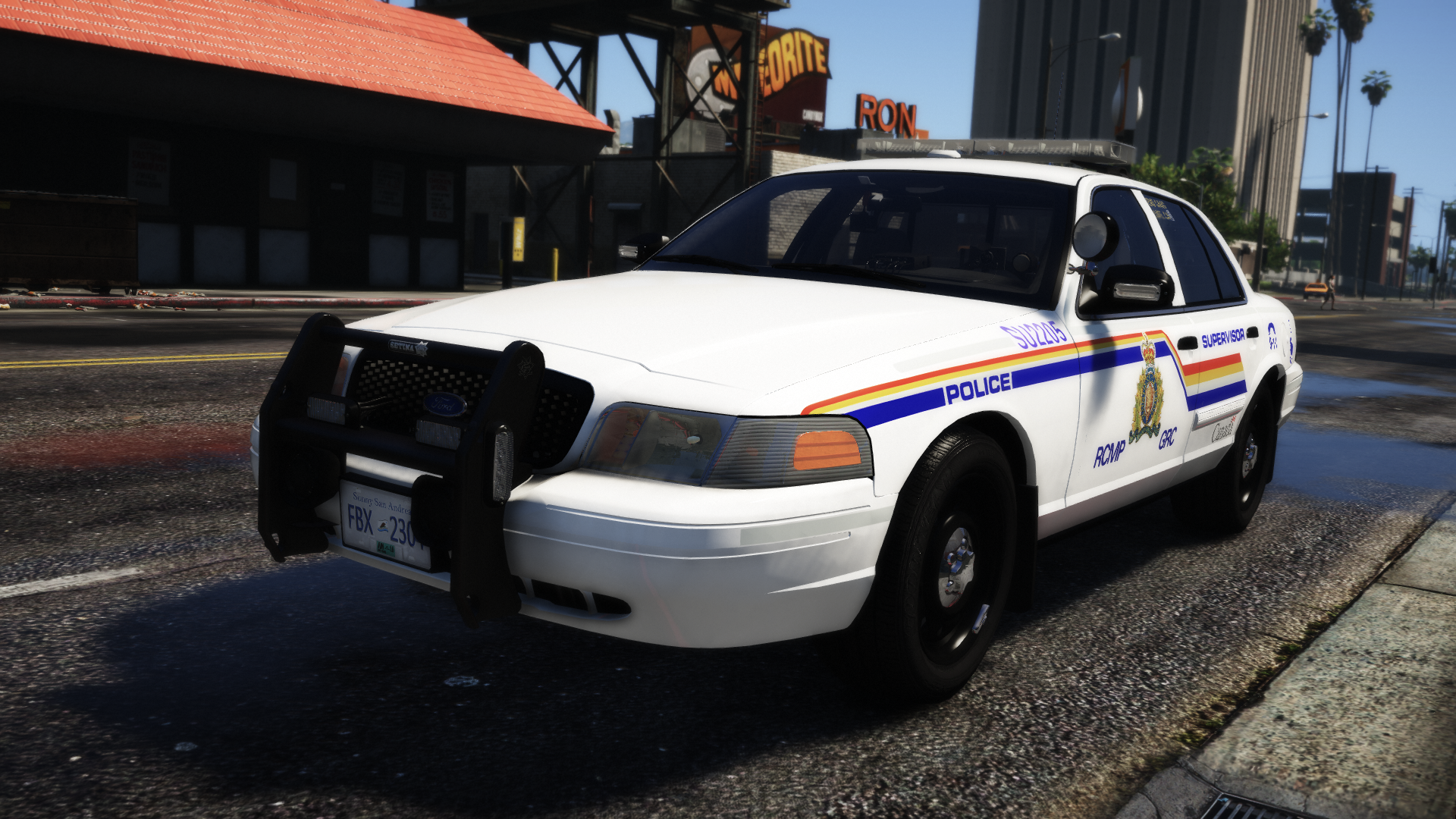 Marked RCMP Crown Victoria