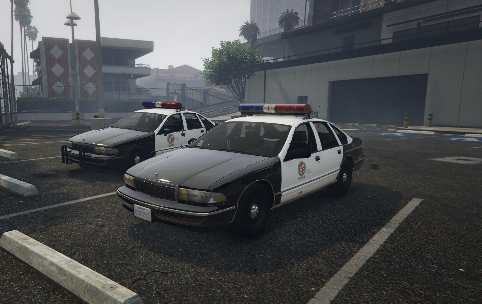 LSPD Caprices with LAPD Style Badges