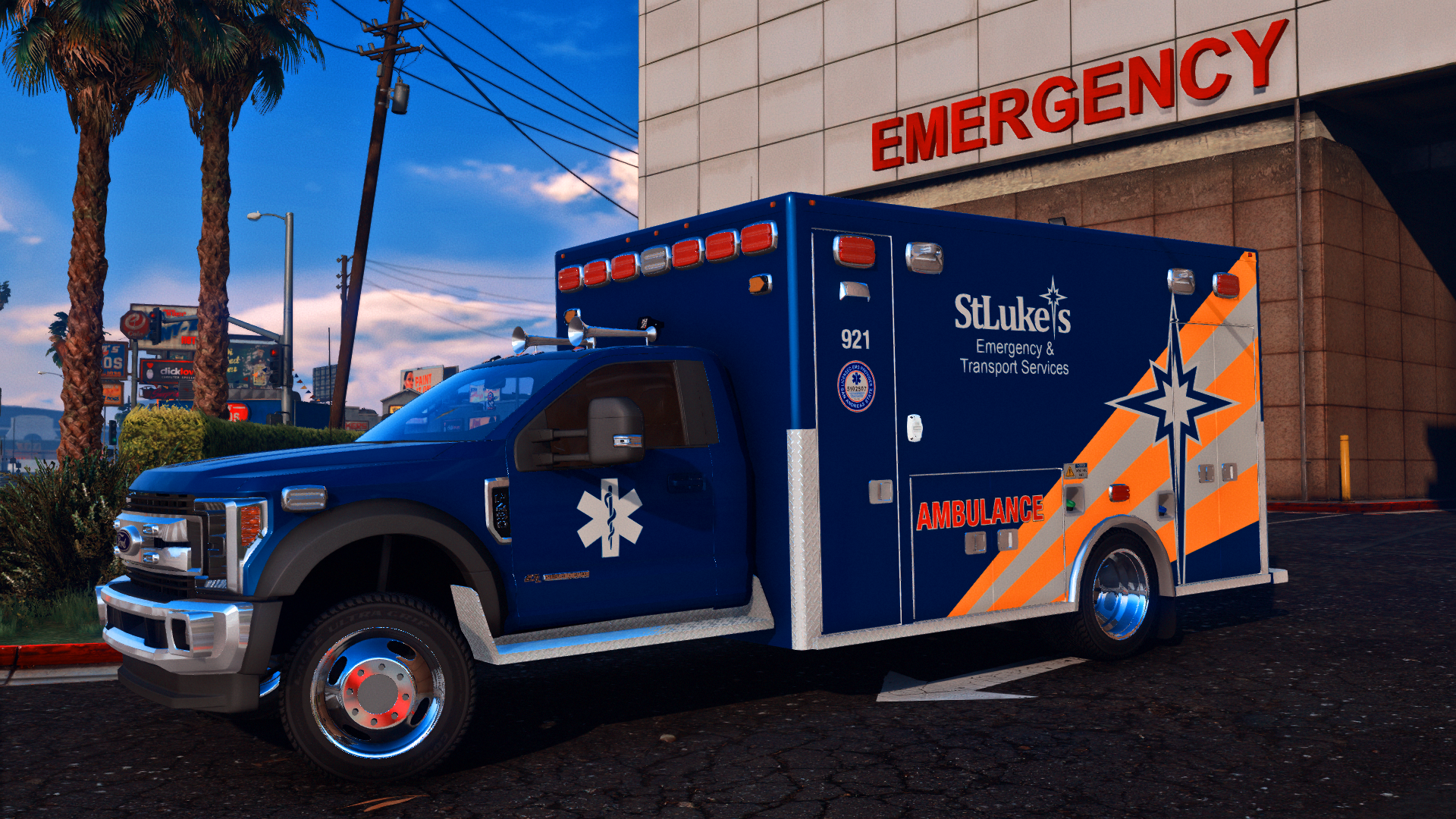 Who doesn't love a blue ambulance?