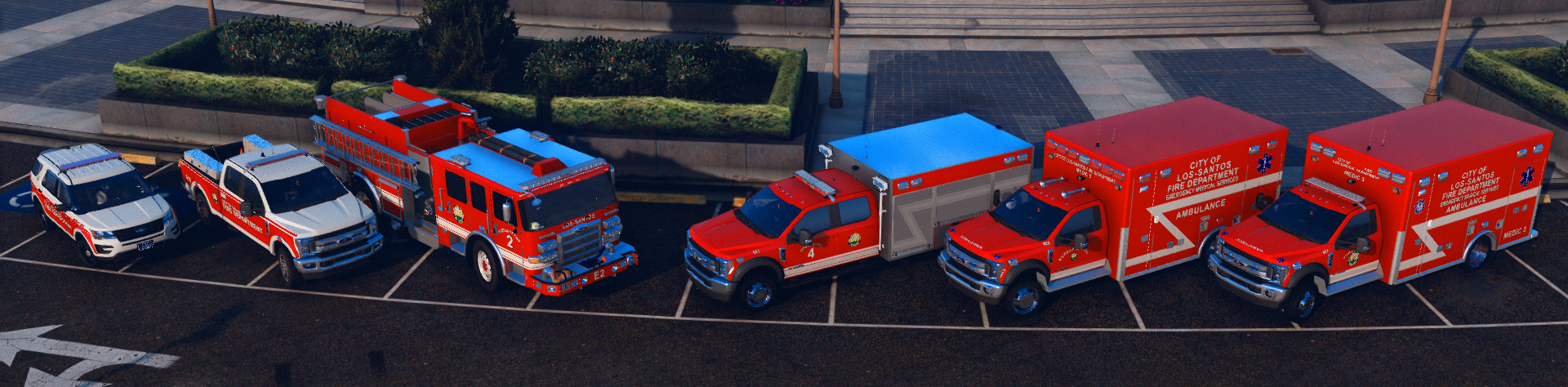 L-S.F.D's awesome fleet