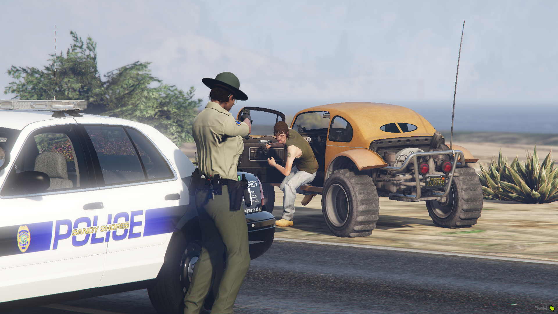 Sandy Shores PD - One at Gunpoint