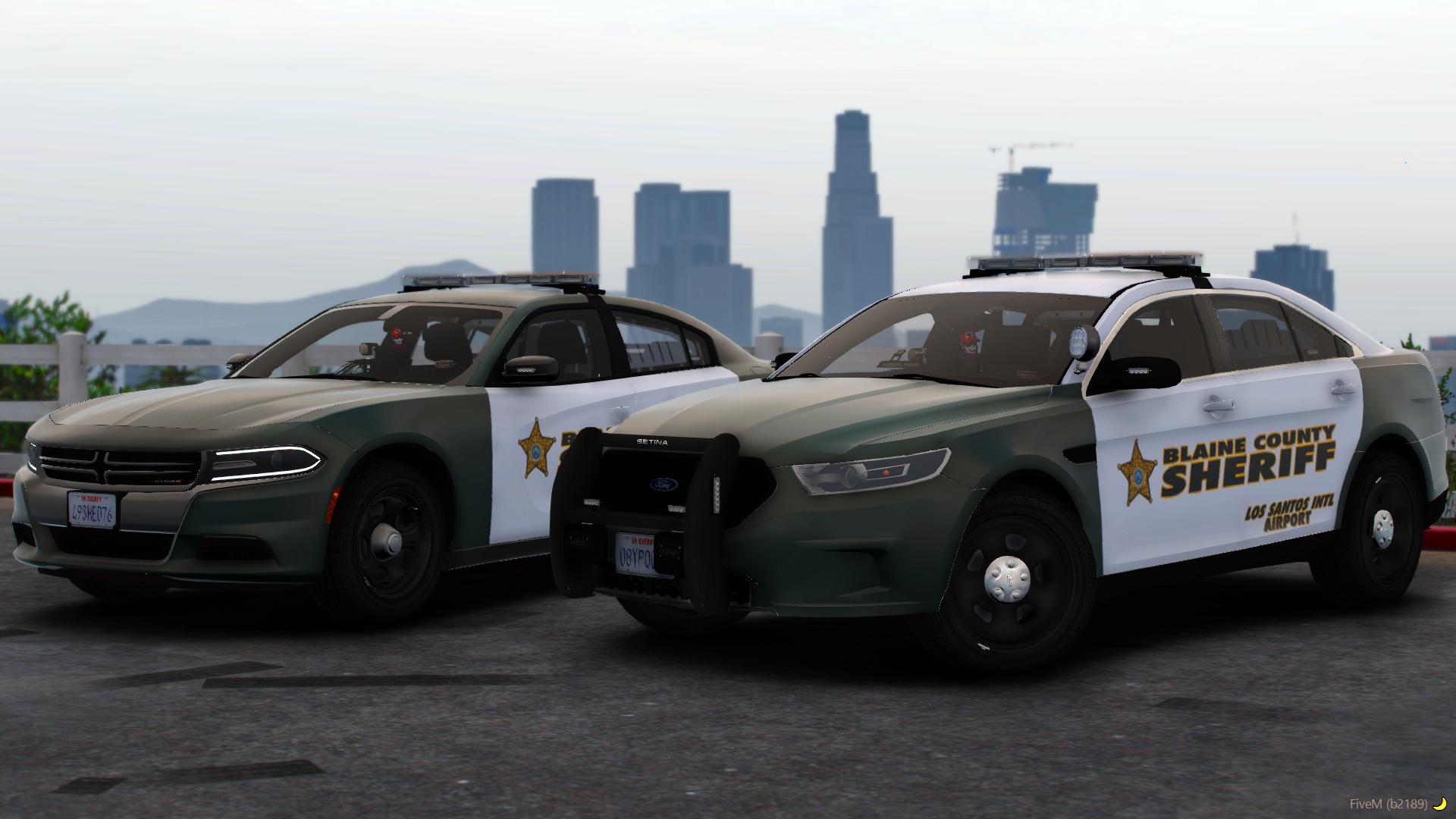 BCSO Charger & Taurus Overlook