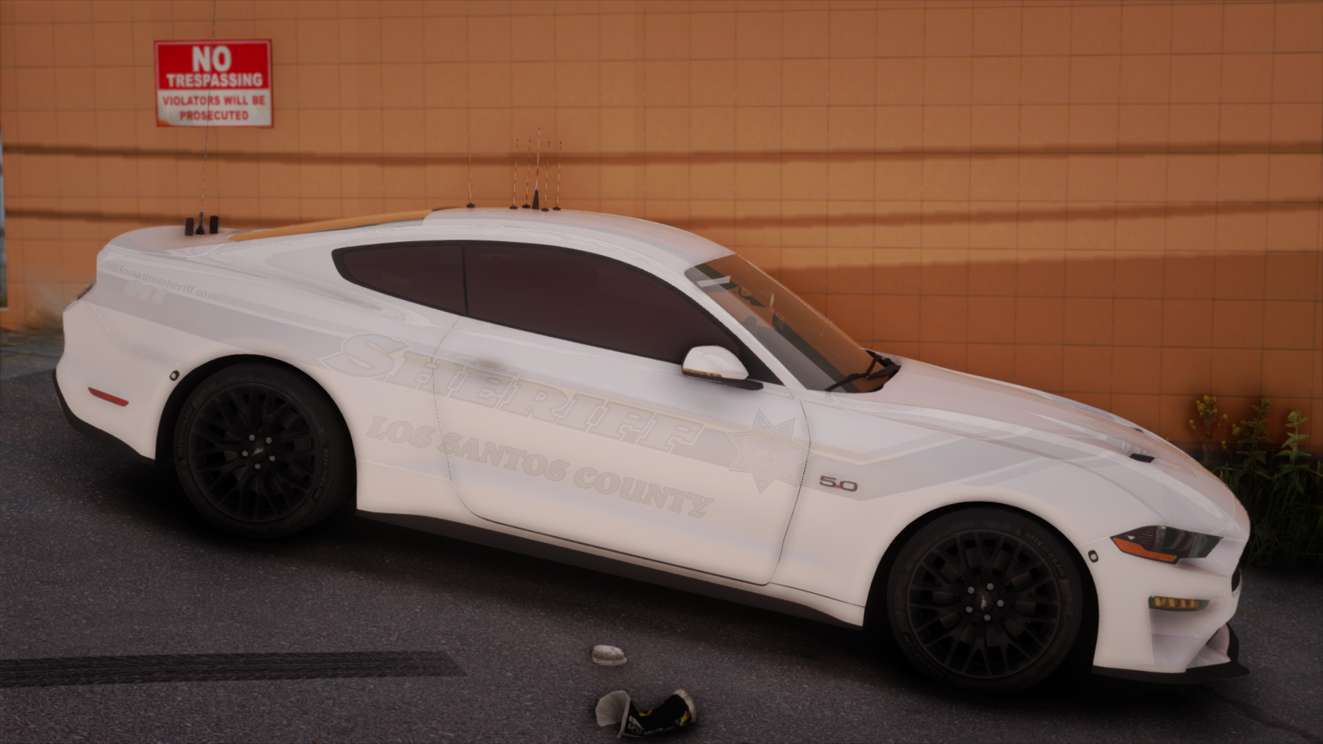 Robertson Mustang White Ghost Side